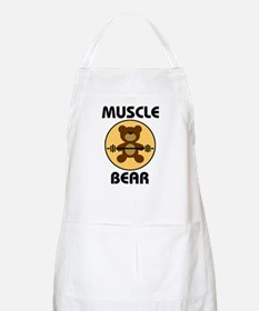 Teddy Bear Muscle Bear B Apron
