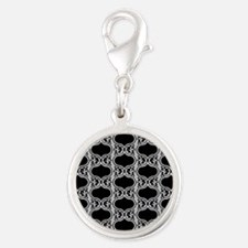 Elegant Black and Grey Pattern Charms