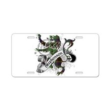 Stephenson Tartan Lion Aluminum License Plate