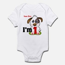 1st Birthday Puppy Infant Body Suit