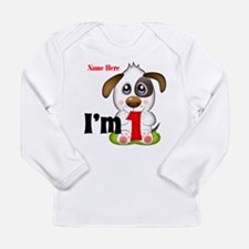 1st Birthday Puppy Long Sleeve Infant T-Shirt