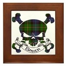 Smith Tartan Skull Framed Tile