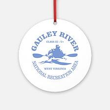 Gauley River (kayak) Round Ornament