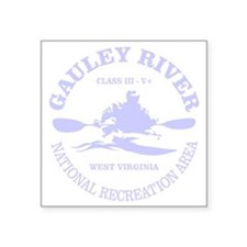 "Gauley River (kayak) Square Sticker 3"" x 3"""