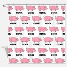 Oink Oink Shower Curtain