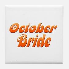 October Bride (3) Tile Coaster