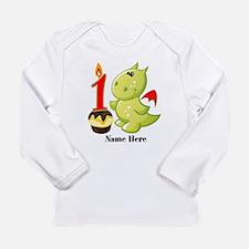 1st Birthday Baby Drago Long Sleeve Infant T-Shirt
