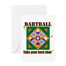 Dartball Board Greeting Cards