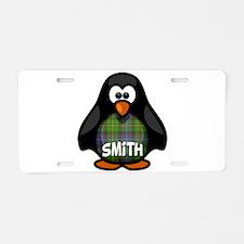 Smith Tartan Penguin Aluminum License Plate