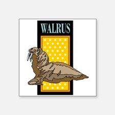 Walrus Sign Sticker