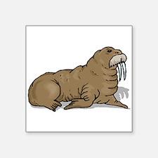 Brown Walrus Sticker