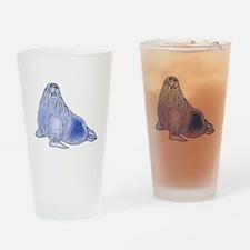 Blue Walrus Drinking Glass