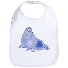 Blue Walrus Bib
