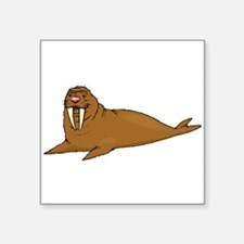 Brown Walrus Sticker