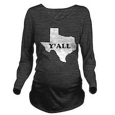 Cute Texas Long Sleeve Maternity T-Shirt