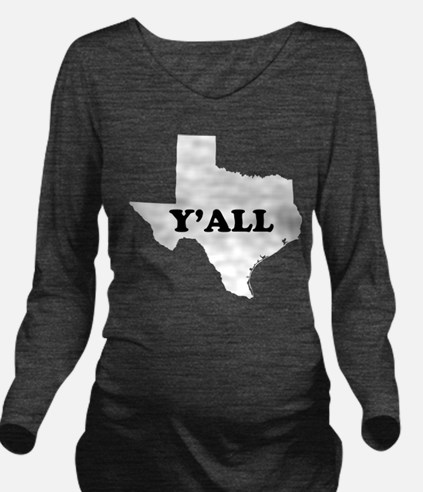 Unique Texas Long Sleeve Maternity T-Shirt
