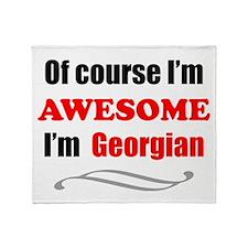 Georgia Is Awesome Throw Blanket