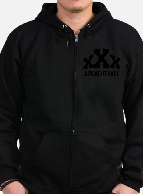Cute Straight edge Zip Hoodie