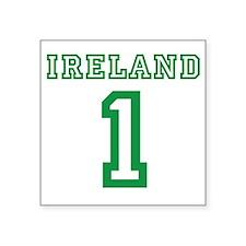 "IRELAND #1 Square Sticker 3"" x 3"""