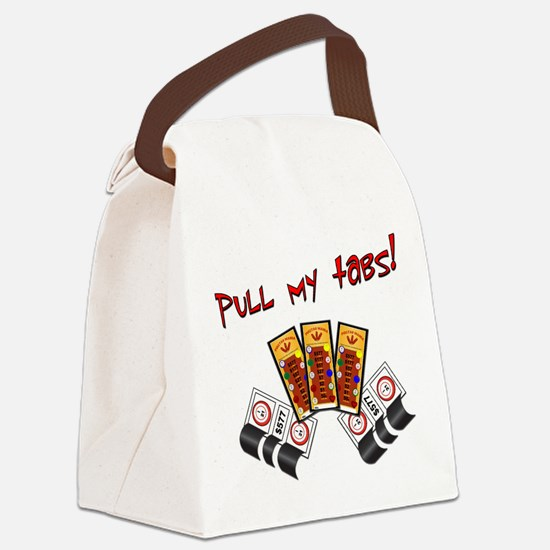 Funny Gambling Canvas Lunch Bag