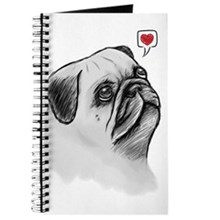 Pug Sketch Journal