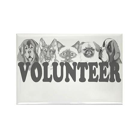 Volunteer Rectangle Magnet (100 pack)