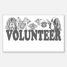 Volunteer Rectangle Decal