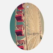 Vintage Ferris Wheel Ornament (Oval)