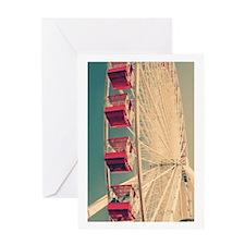 Vintage Ferris Wheel Greeting Cards