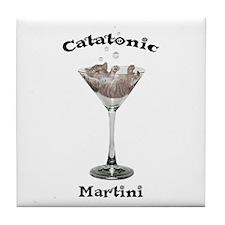 Catatonic Martini Tile Coaster