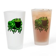 Happy Frog Drinking Glass