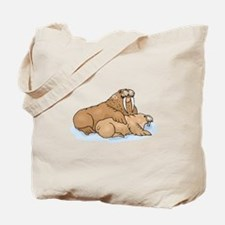 Walrus And Pup Tote Bag