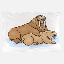 Walrus And Pup Pillow Case
