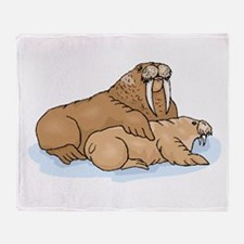 Walrus And Pup Throw Blanket