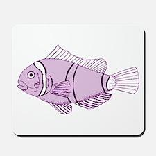 Purple Fish Mousepad