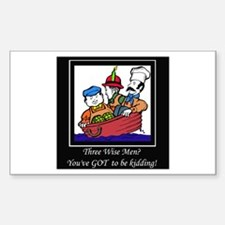 Three Wise Men Rectangle Decal