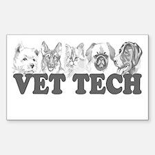 Vet Tech Rectangle Decal