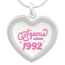 1992 Birth Year Gorgeous Silver Heart Necklace