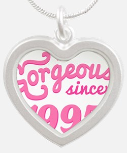 1995 Birth Year Gorgeous Silver Heart Necklace