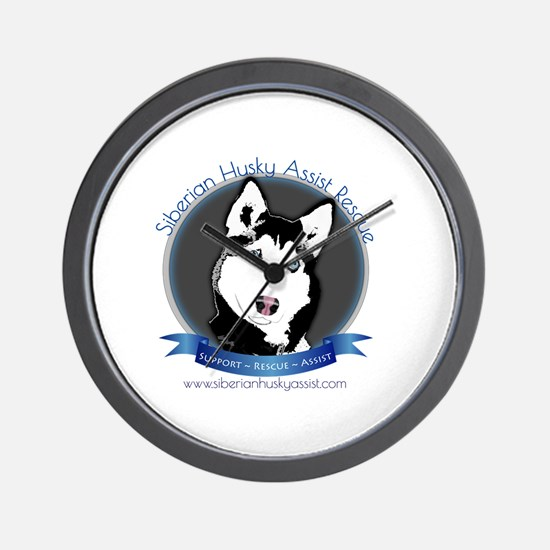 Unique Siberian huskies Wall Clock