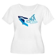 Shark with text Plus Size T-Shirt