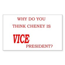VICE president Rectangle Decal