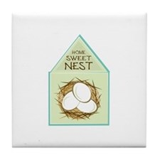 Home Sweet Nest Tile Coaster