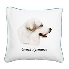 Great Pyrenees Square Canvas Pillow