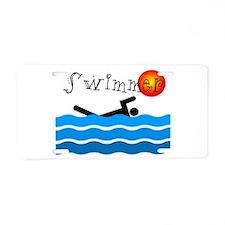 Swimmer Aluminum License Plate