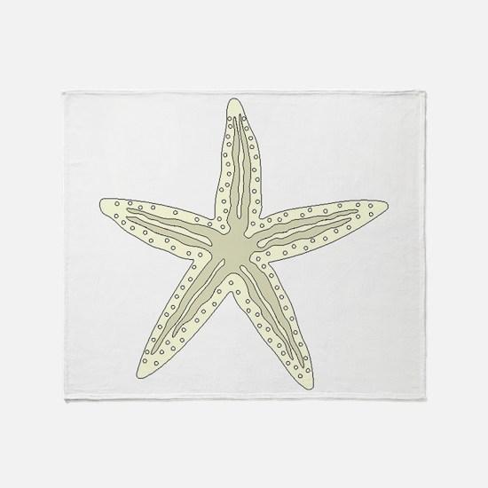 White Starfish Throw Blanket