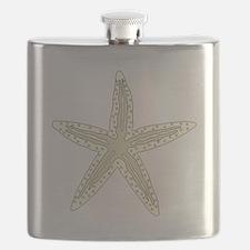 White Starfish Flask