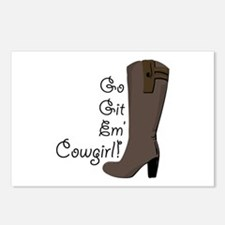 Go Get Em Cowgirl Postcards (Package of 8)