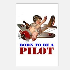 BORN TO BE A PILOT Postcards (Package of 8)