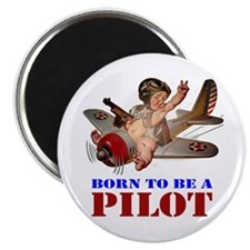 "BORN TO BE A PILOT 2.25"" Magnet (10 pack)"